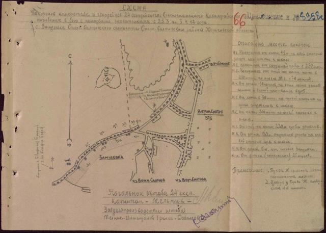 Схема захоронения в с. Замуловка